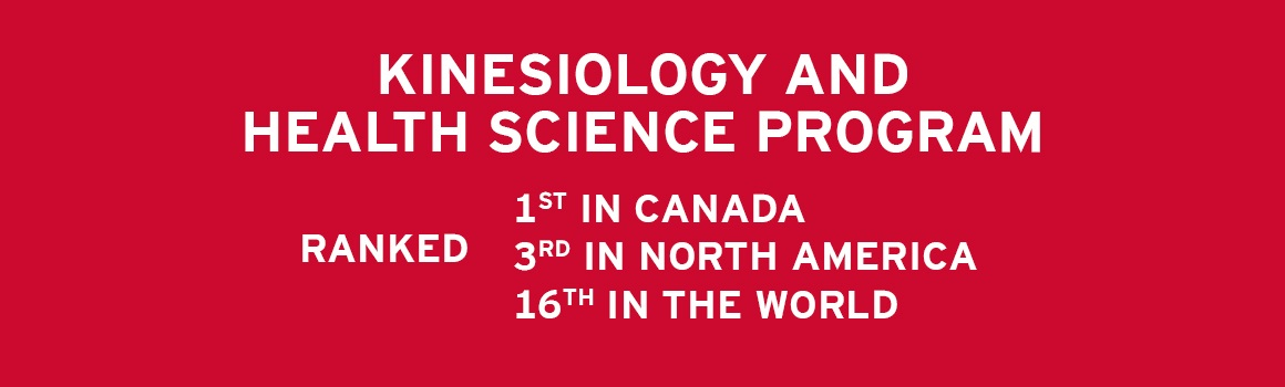 Kinesiology and Health Science Program Ranked 21st in the World & 3rd in Canada